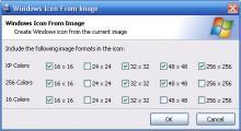 Windows Icon Generation Dialog