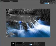 Colorkey with Pixlr Express online: Adjustments - Splash
