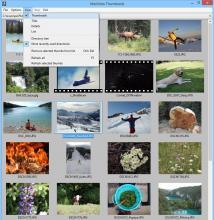Thumbnail View menu