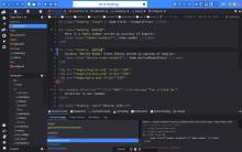 UI with dark theme
