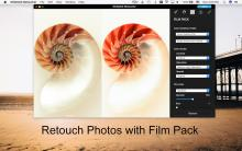 retouch photos with film pack effects